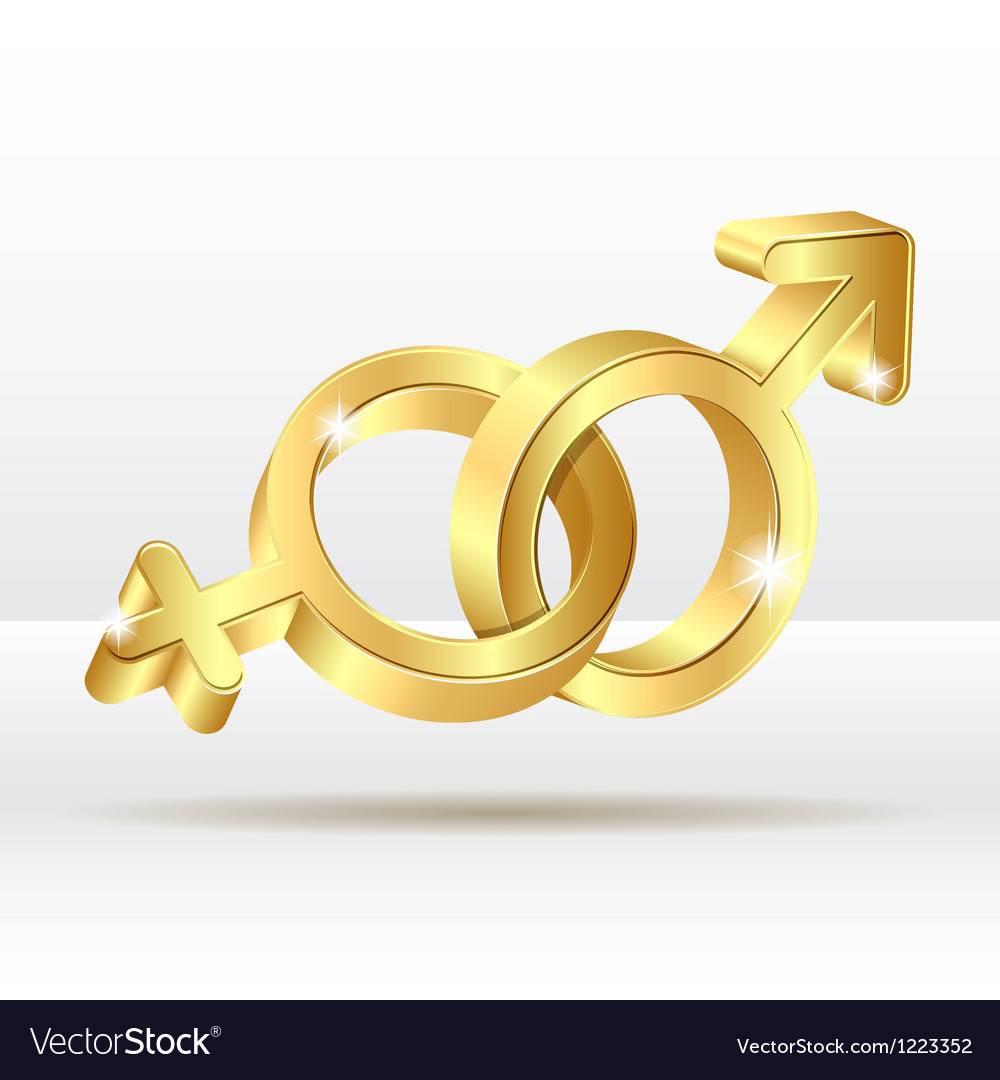 Male female symbol vector | Price: 1 Credit (USD $1)