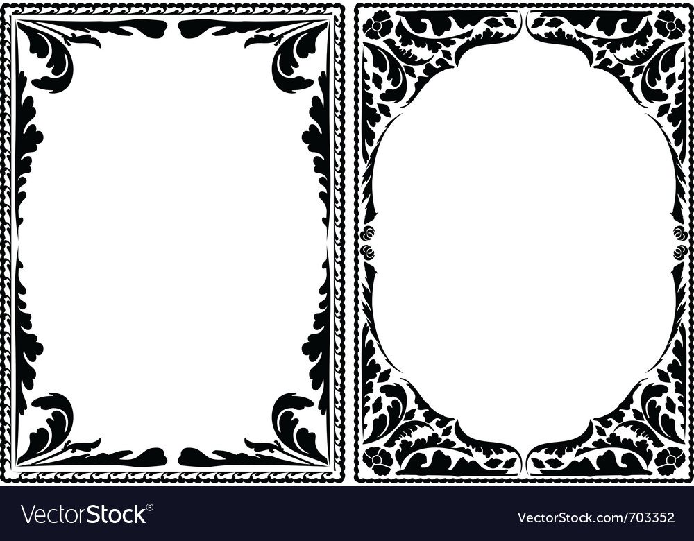Silhouette decorative borders vector | Price: 1 Credit (USD $1)
