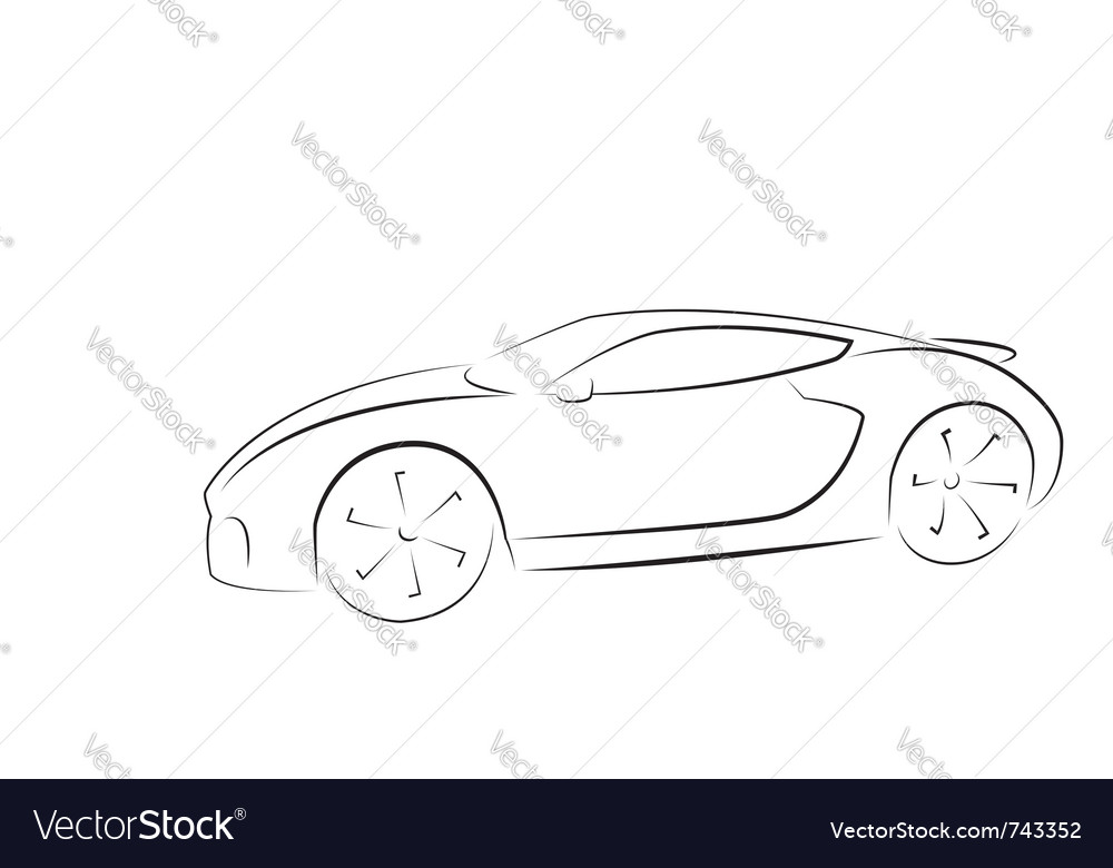 Sport car silhouette vector | Price: 1 Credit (USD $1)