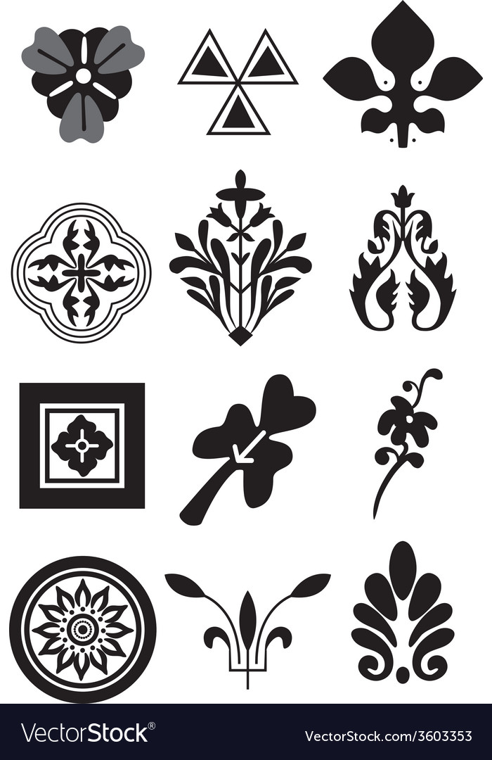 12 floral elements for your desighn vector | Price: 1 Credit (USD $1)