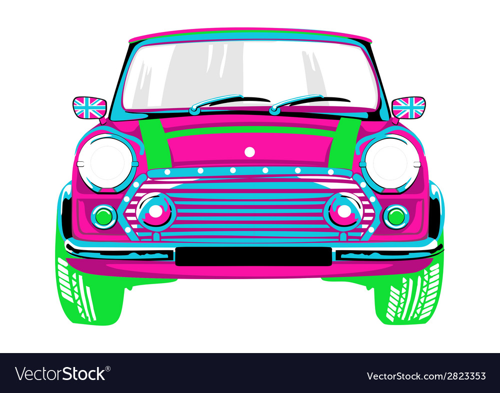 Beautiful and a pink car vector | Price: 1 Credit (USD $1)