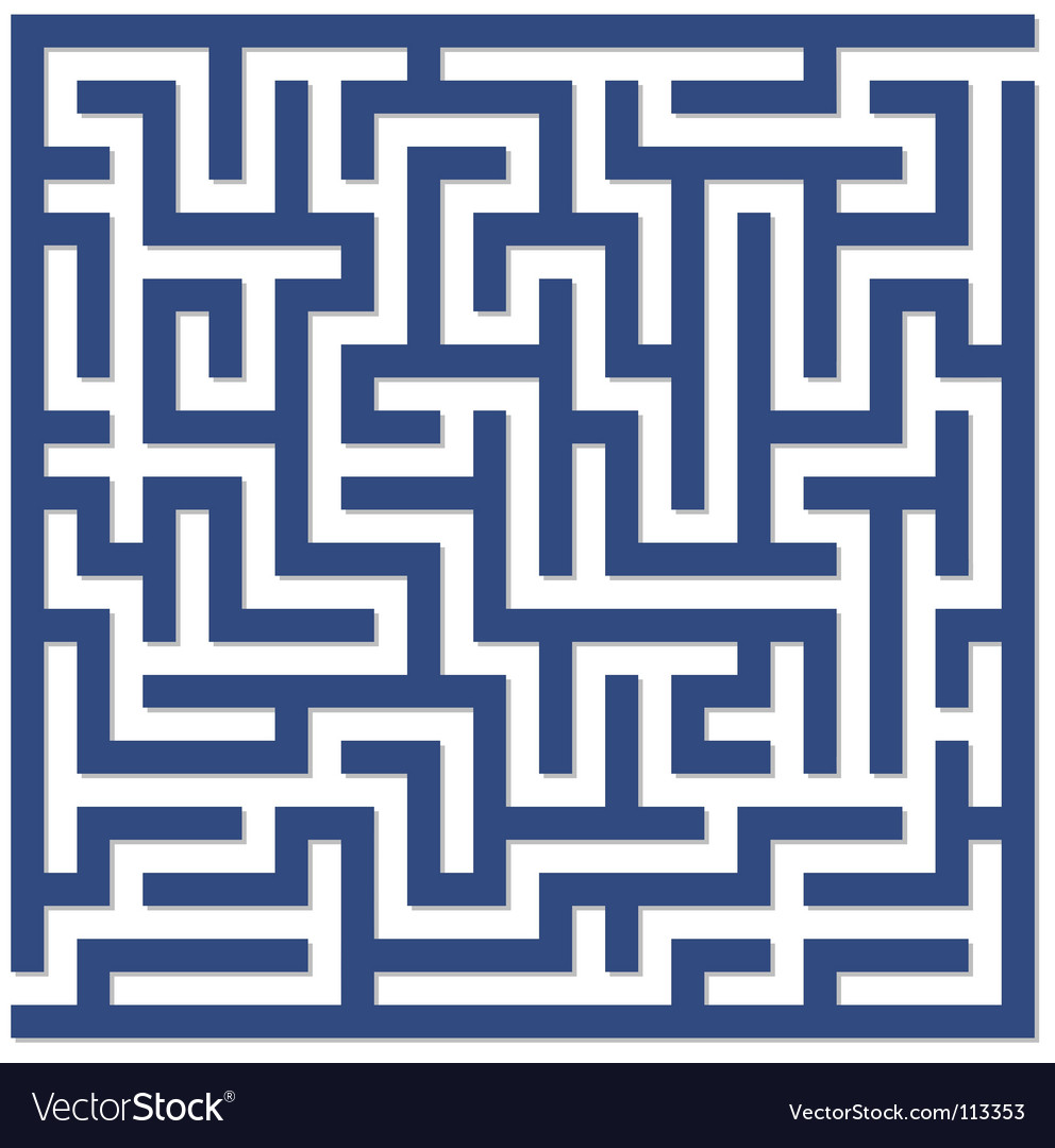 Blue maze vector | Price: 1 Credit (USD $1)