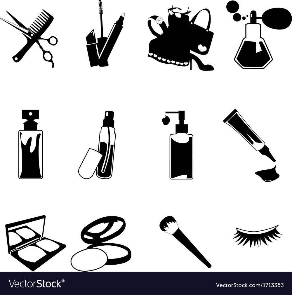 Cosmetic make up and beauty icons vector | Price: 1 Credit (USD $1)