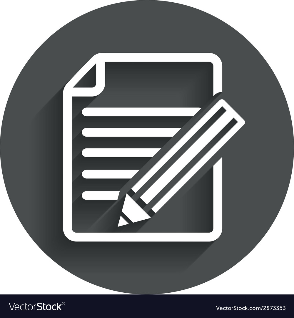 Edit document sign icon edit content button vector   Price: 1 Credit (USD $1)