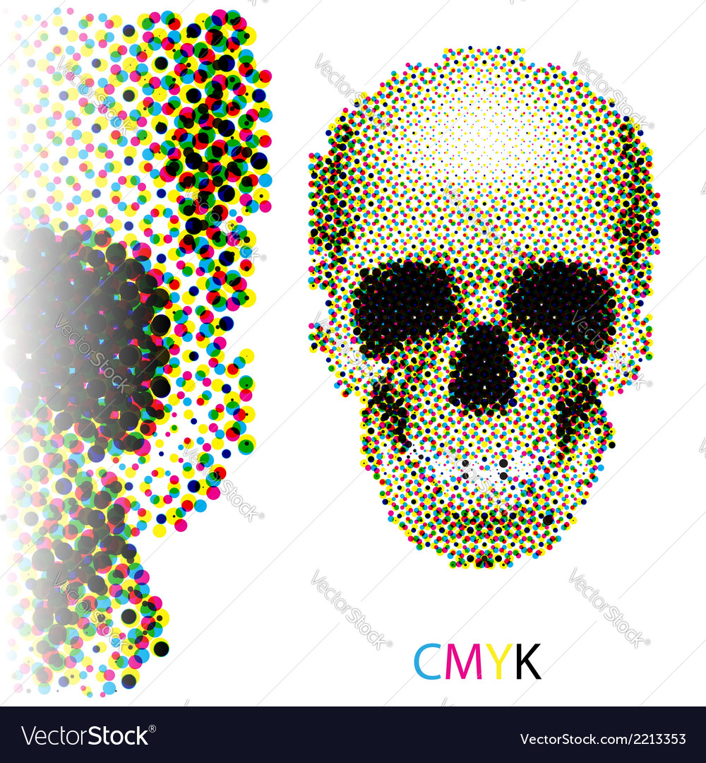 Halftone skull vector | Price: 1 Credit (USD $1)