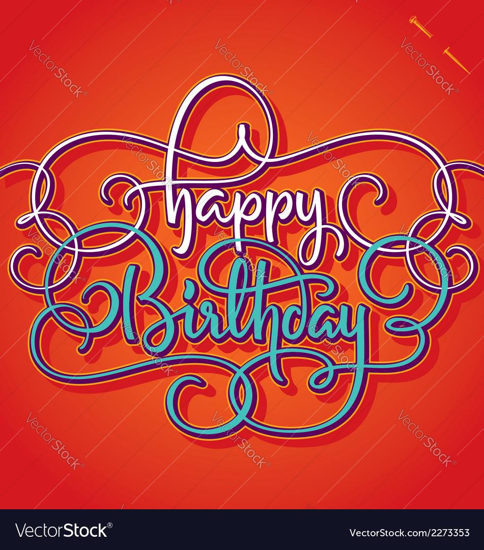 Happy birthday hand lettering vector | Price: 1 Credit (USD $1)