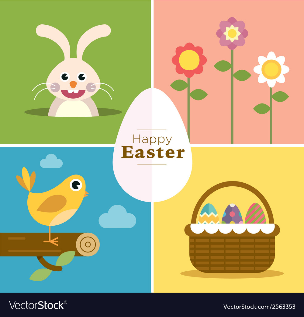 Happy easter set vector | Price: 1 Credit (USD $1)