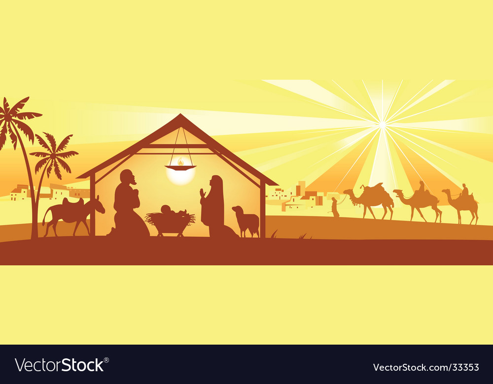 Holy night way to bethlehem vector | Price: 3 Credit (USD $3)