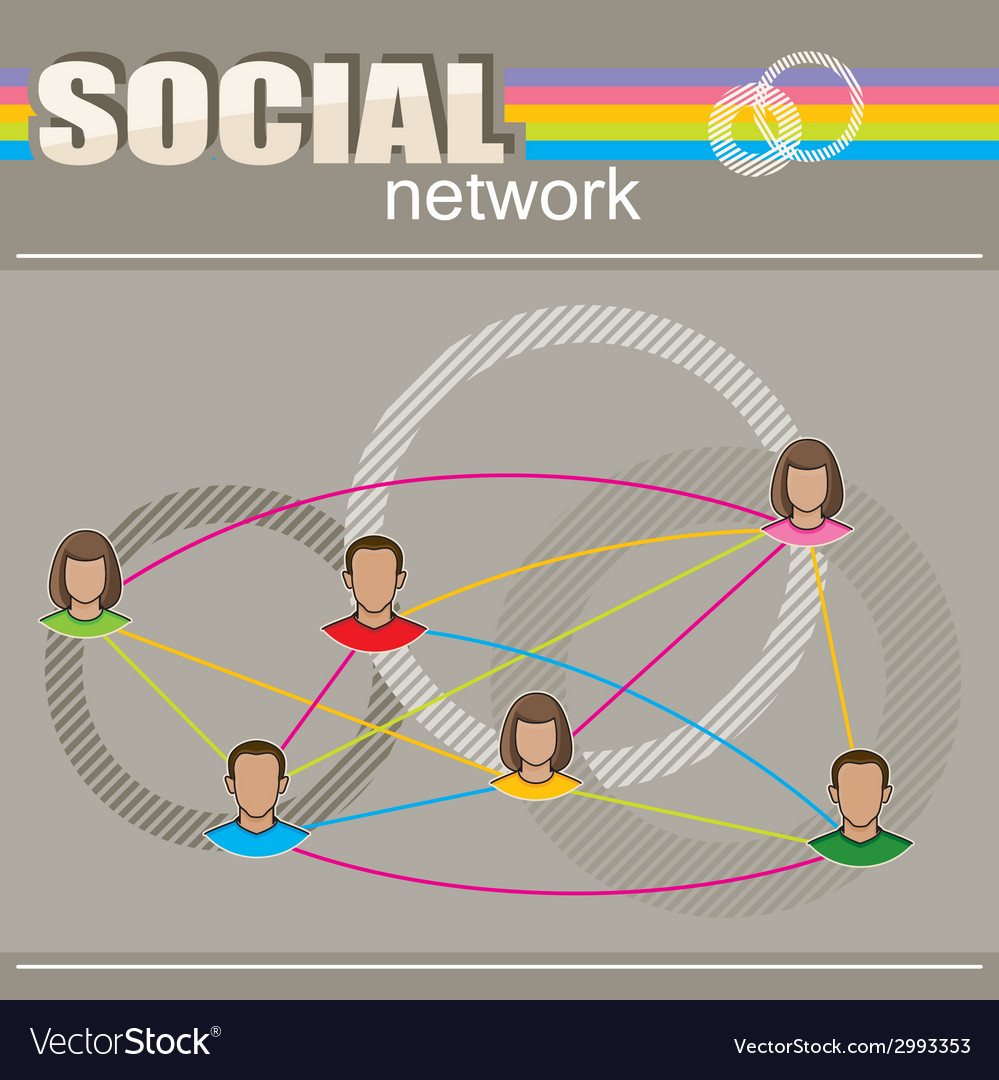 Infographic with user face icons social network vector | Price: 1 Credit (USD $1)