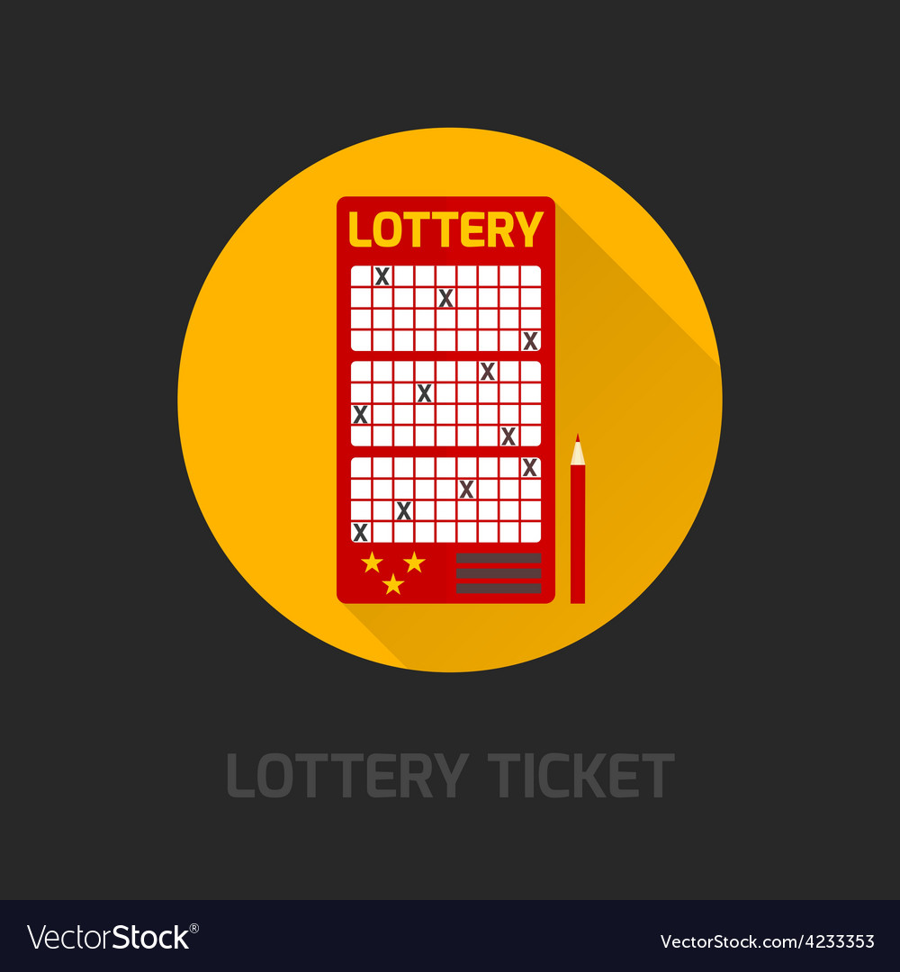 Lottery card icon flat vector | Price: 1 Credit (USD $1)