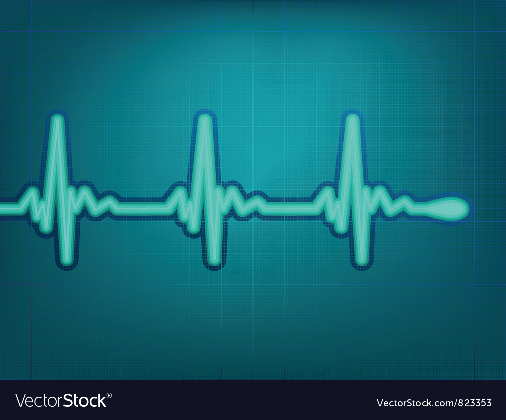 Normal electronic cardiogram vector | Price: 1 Credit (USD $1)