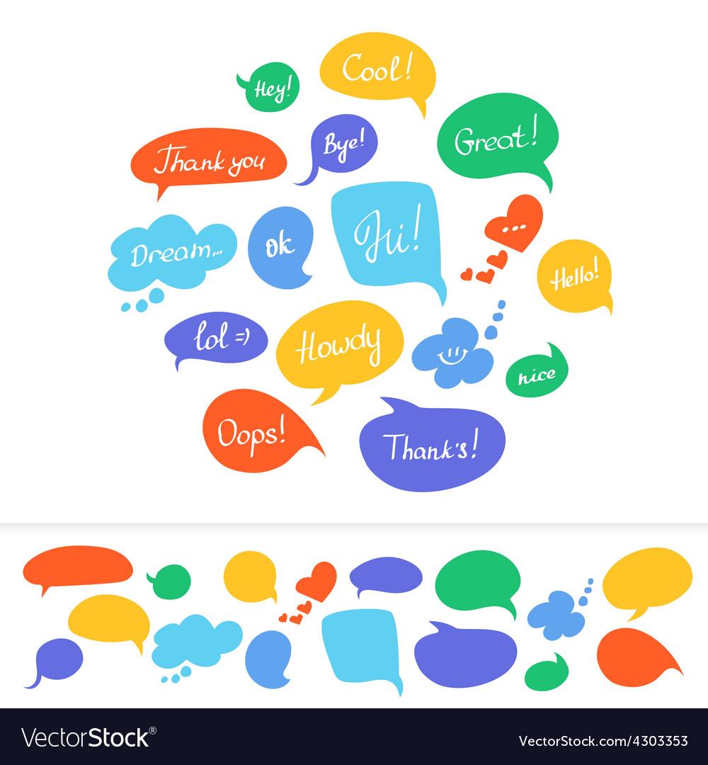 Speech bubbles vector   Price: 1 Credit (USD $1)