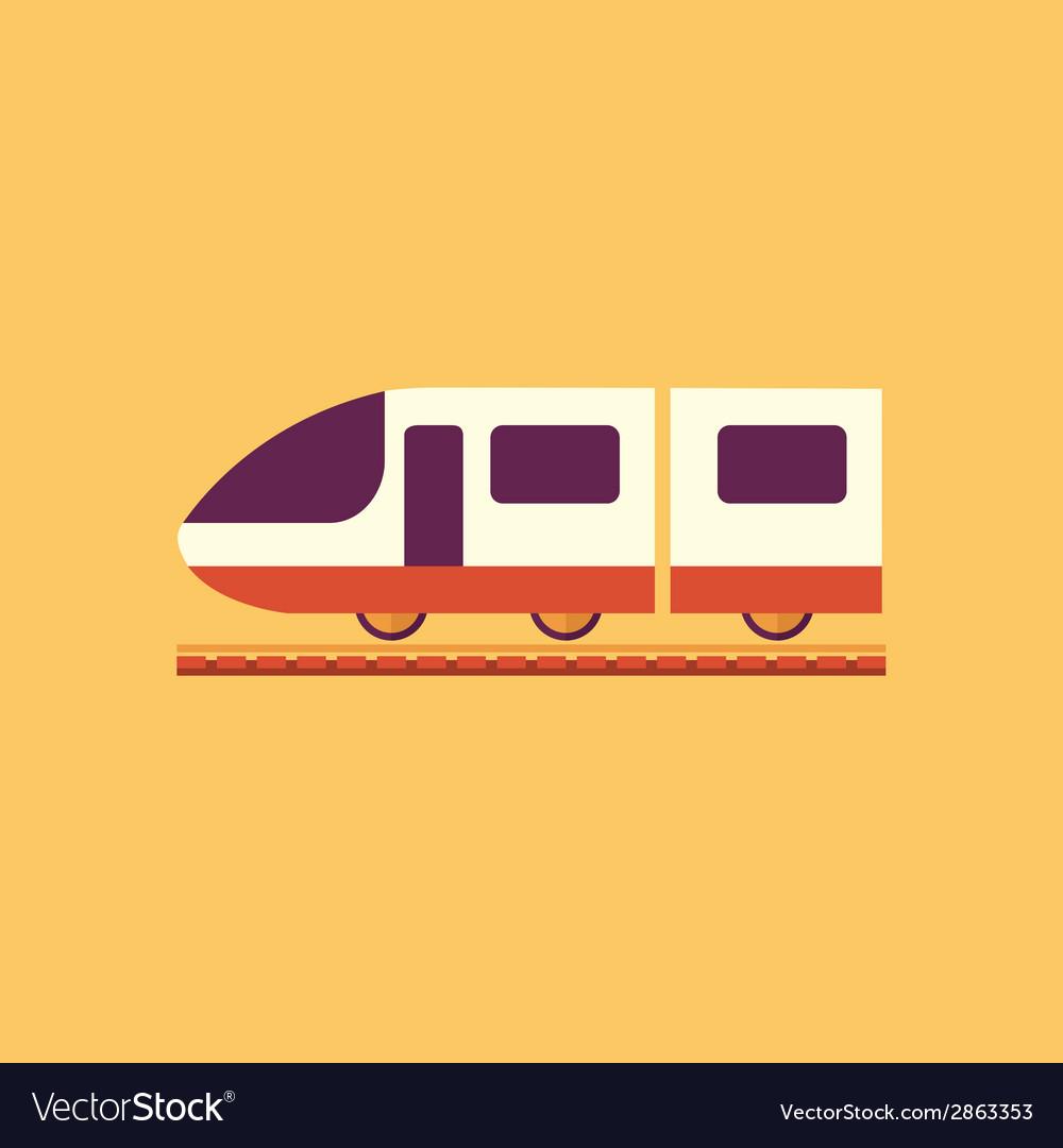 Train transportation flat icon vector   Price: 1 Credit (USD $1)