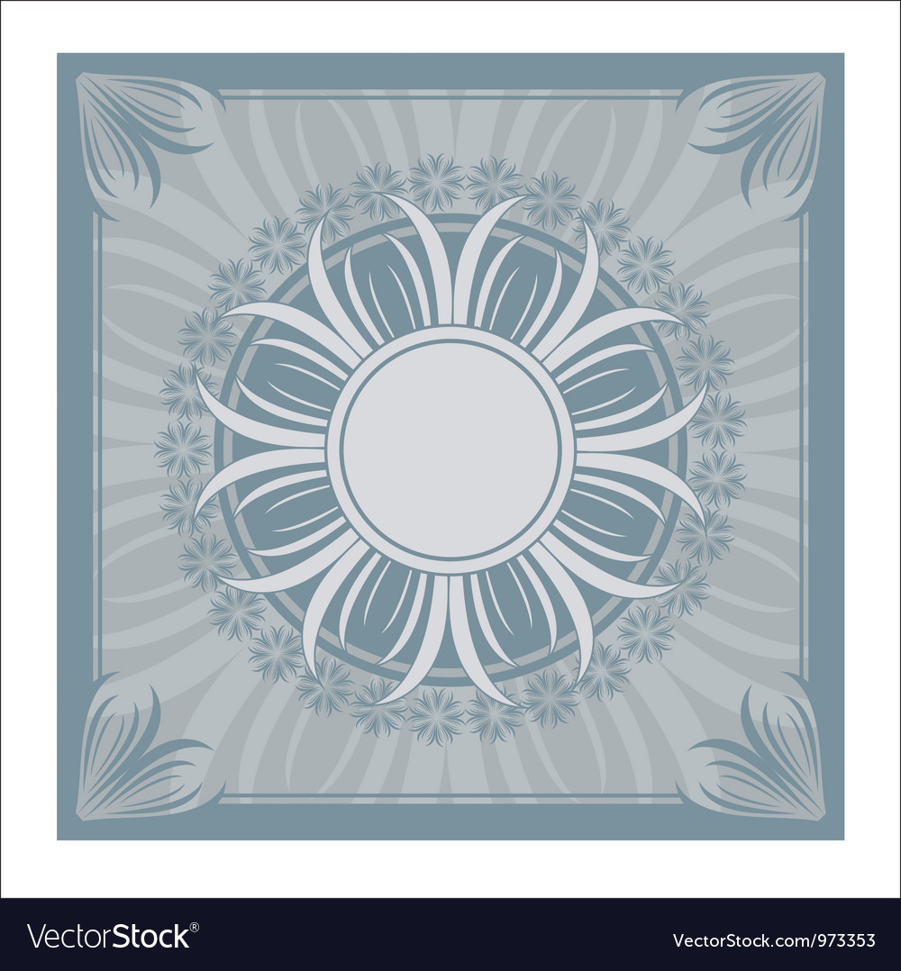 Vintage ornament blue vector | Price: 1 Credit (USD $1)