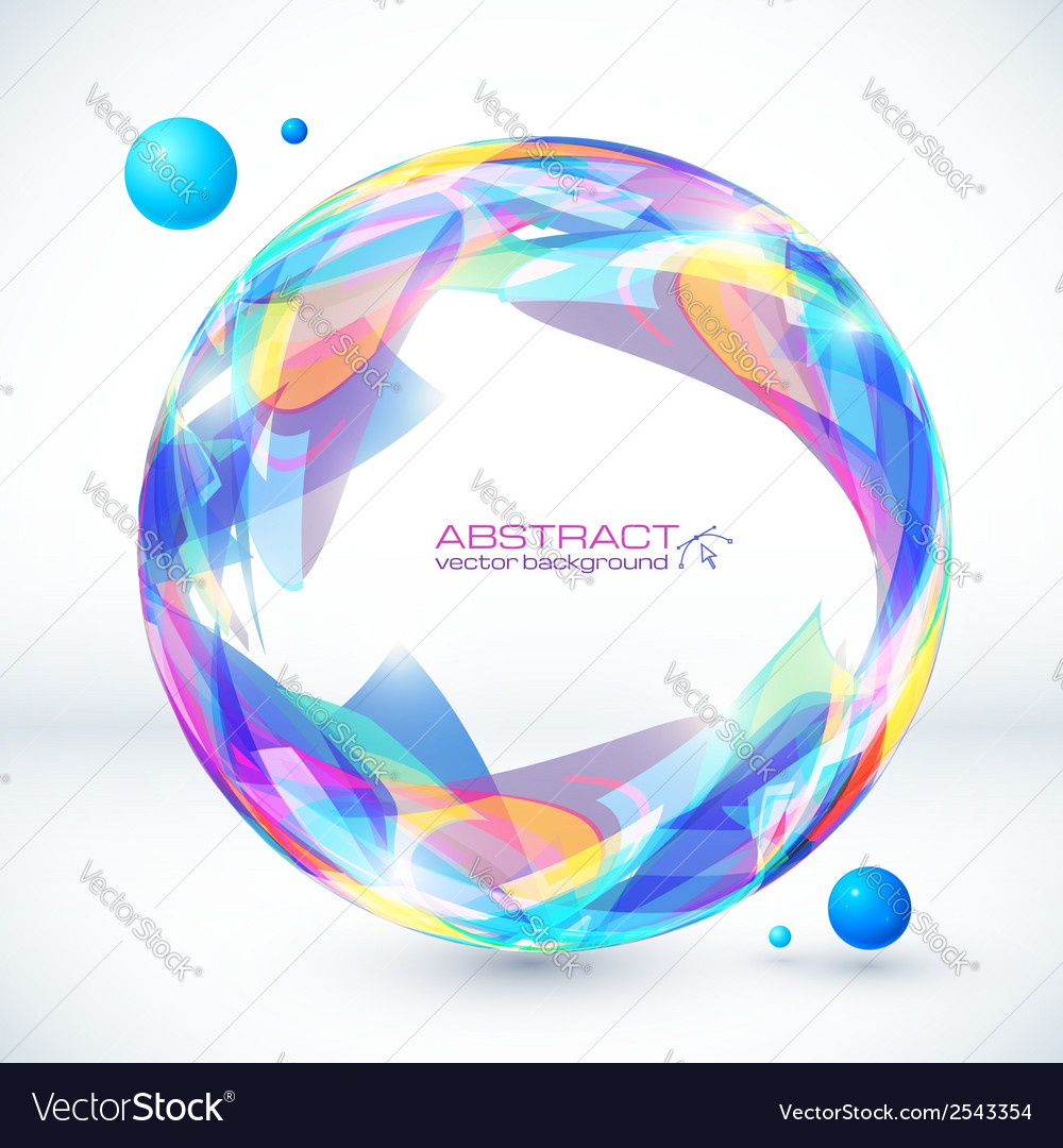 Abstract colorful sphere image vector | Price: 1 Credit (USD $1)