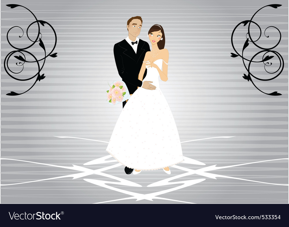 Bride and groom vector | Price: 1 Credit (USD $1)