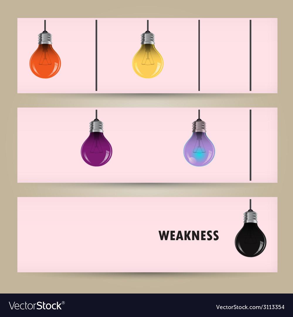 Creative light bulb idea concept banner vector | Price: 1 Credit (USD $1)