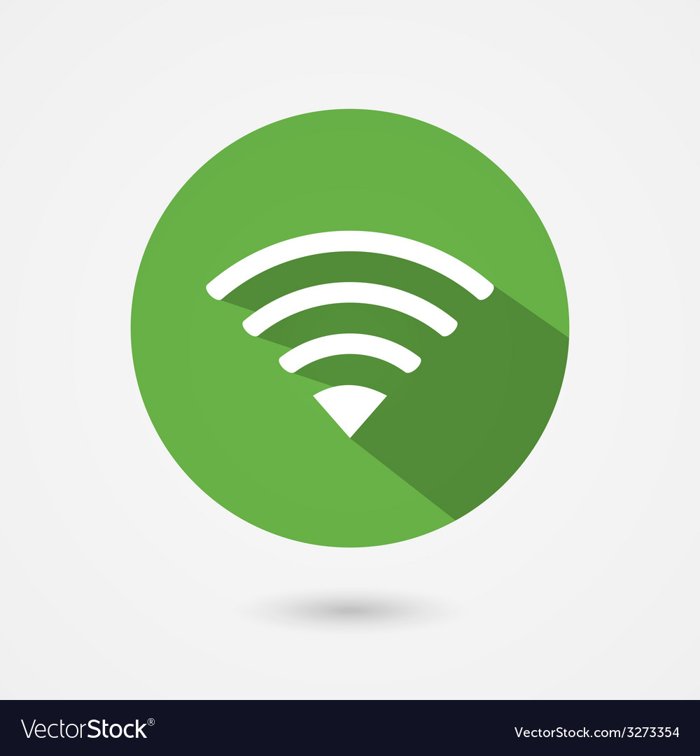 Flat icon fior free wifi connection vector | Price: 1 Credit (USD $1)