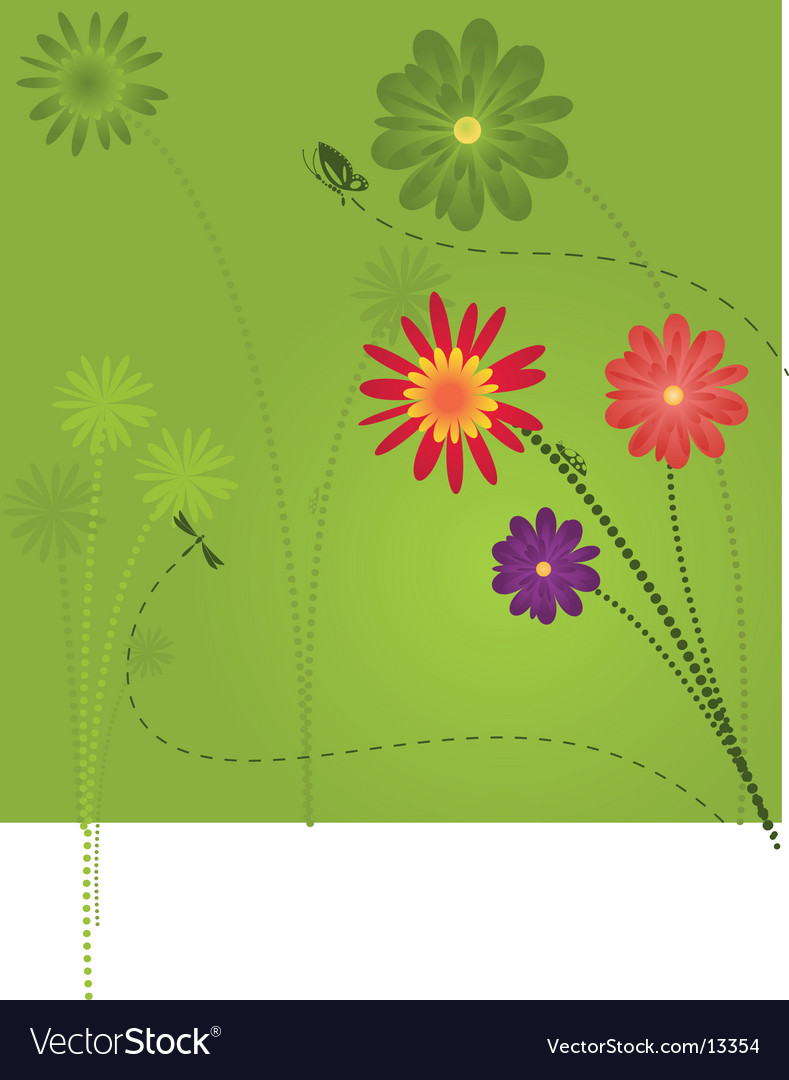 Floral garden design vector | Price: 1 Credit (USD $1)
