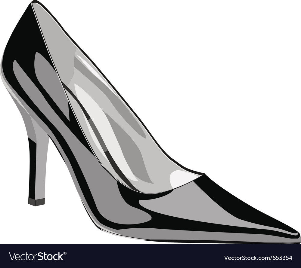 High heel woman shoe vector | Price: 1 Credit (USD $1)