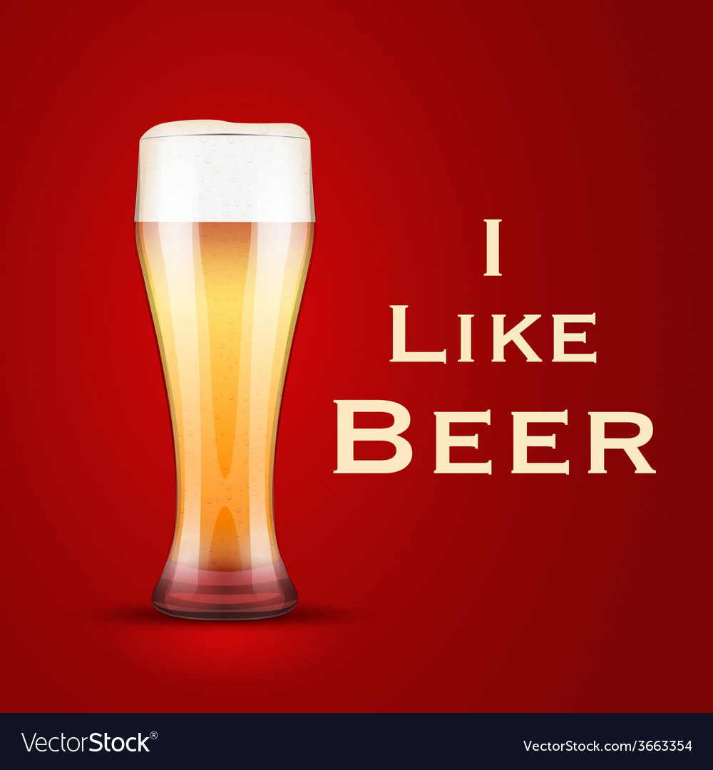 I love beer vector | Price: 1 Credit (USD $1)