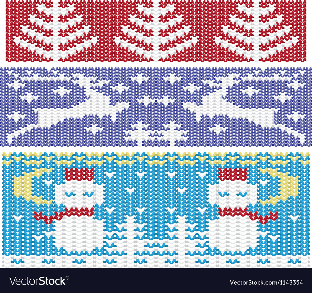 Knitted christmas ornaments vector | Price: 3 Credit (USD $3)