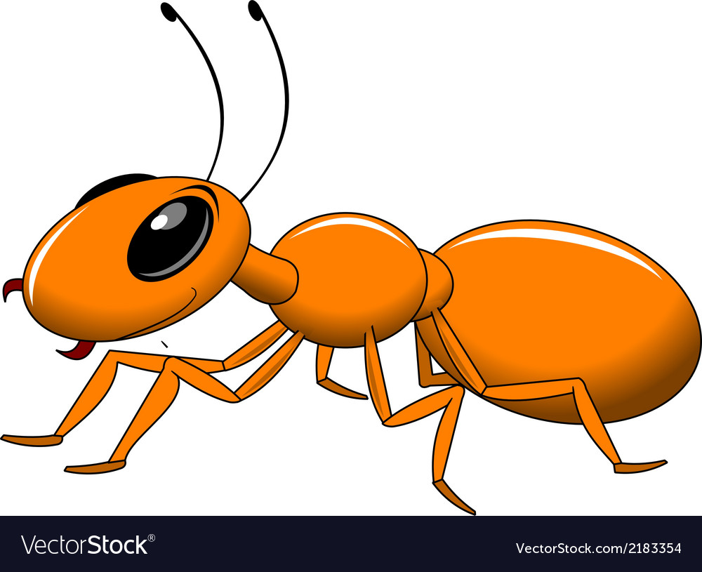 Red ant cartoon vector | Price: 1 Credit (USD $1)