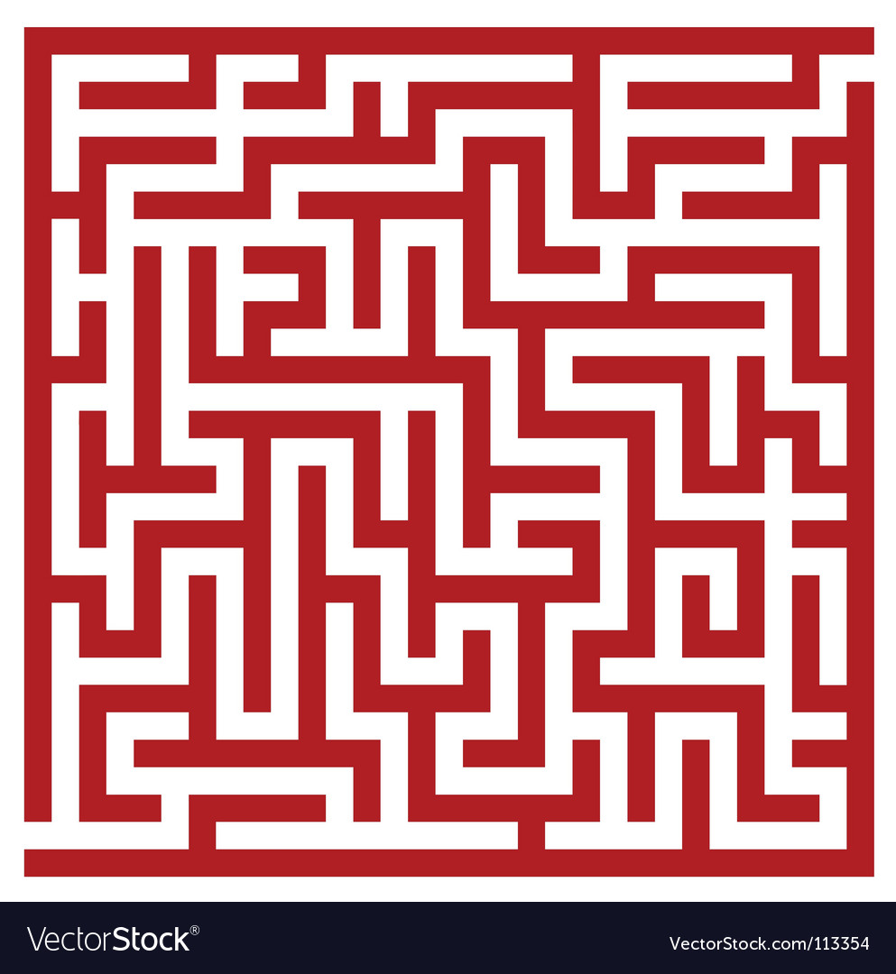 Red maze vector   Price: 1 Credit (USD $1)