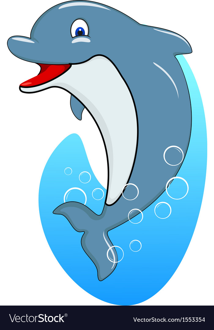 Standing dolphin vector | Price: 1 Credit (USD $1)