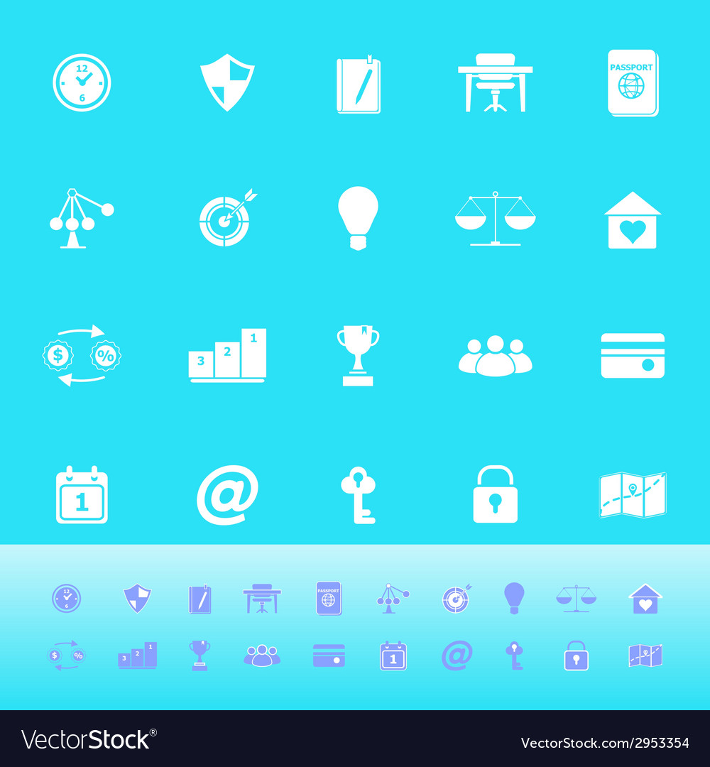 Thinking related color icons on light blue vector | Price: 1 Credit (USD $1)