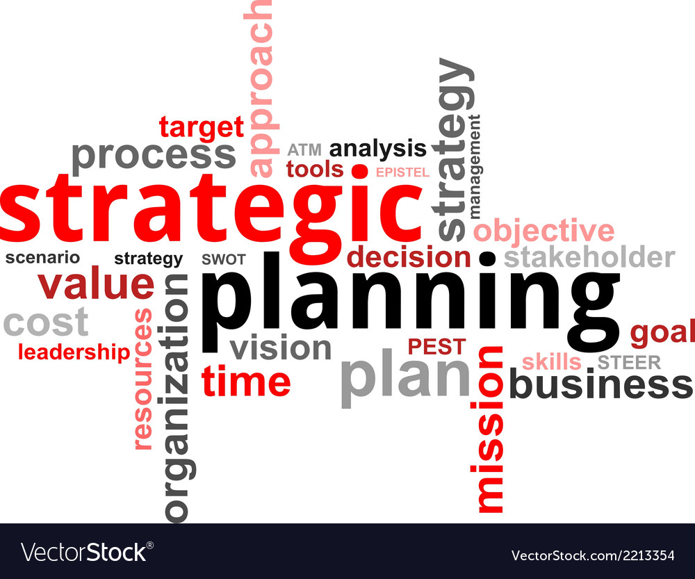 Word cloud strategic planning vector | Price: 1 Credit (USD $1)