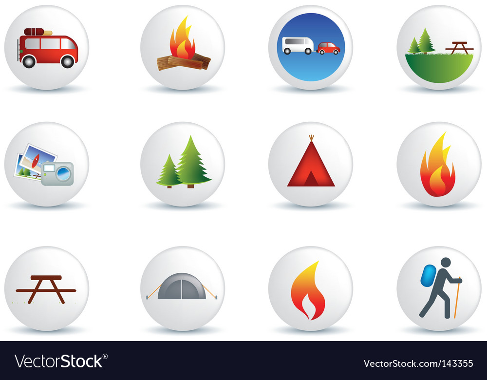 Camping and outdoor signs vector | Price: 1 Credit (USD $1)