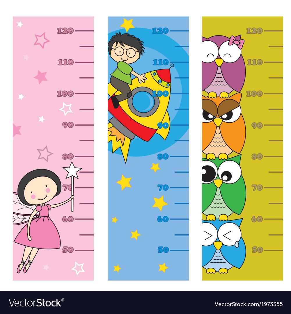 Children height meter vector | Price: 1 Credit (USD $1)