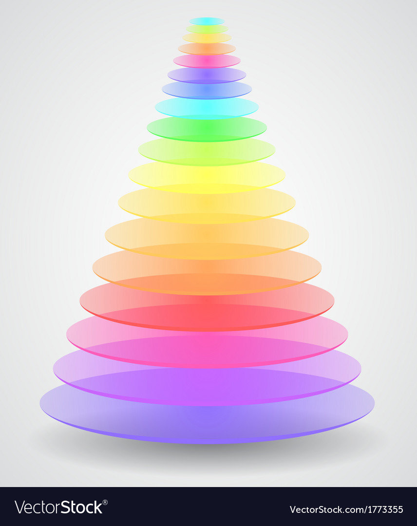 Color pyramid vector | Price: 1 Credit (USD $1)