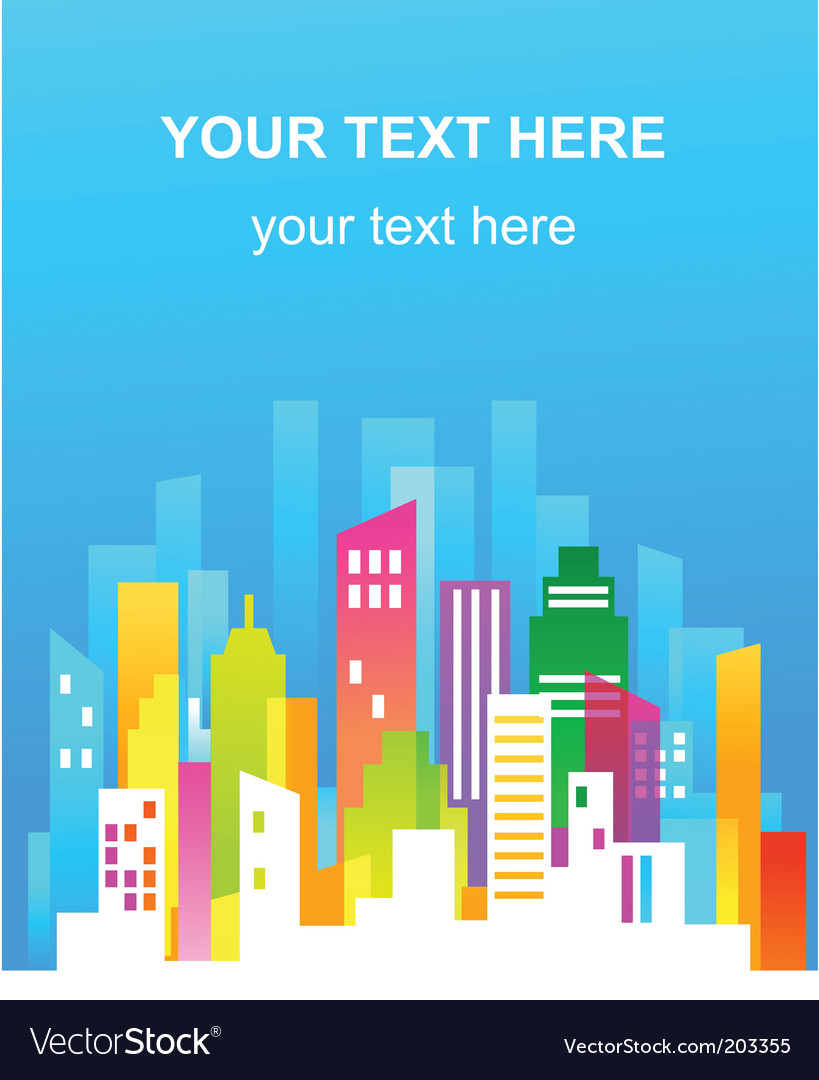 Colorful city real estate flyer vector | Price: 1 Credit (USD $1)