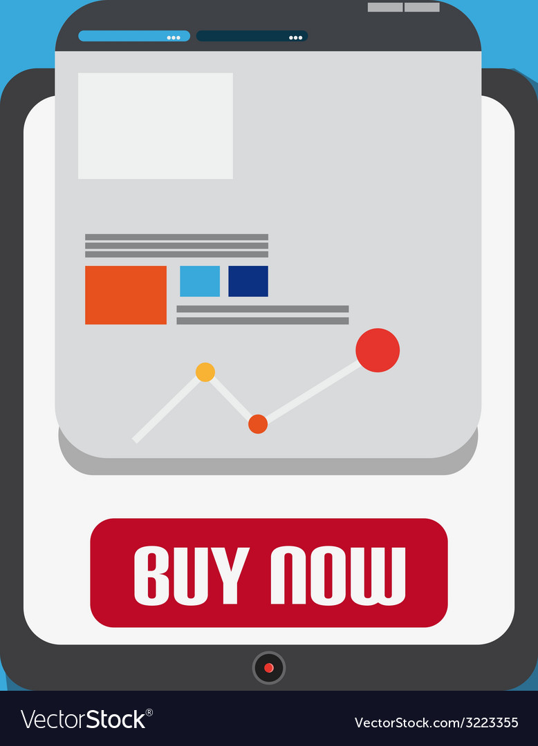 Flat design with tablet web design vector | Price: 1 Credit (USD $1)