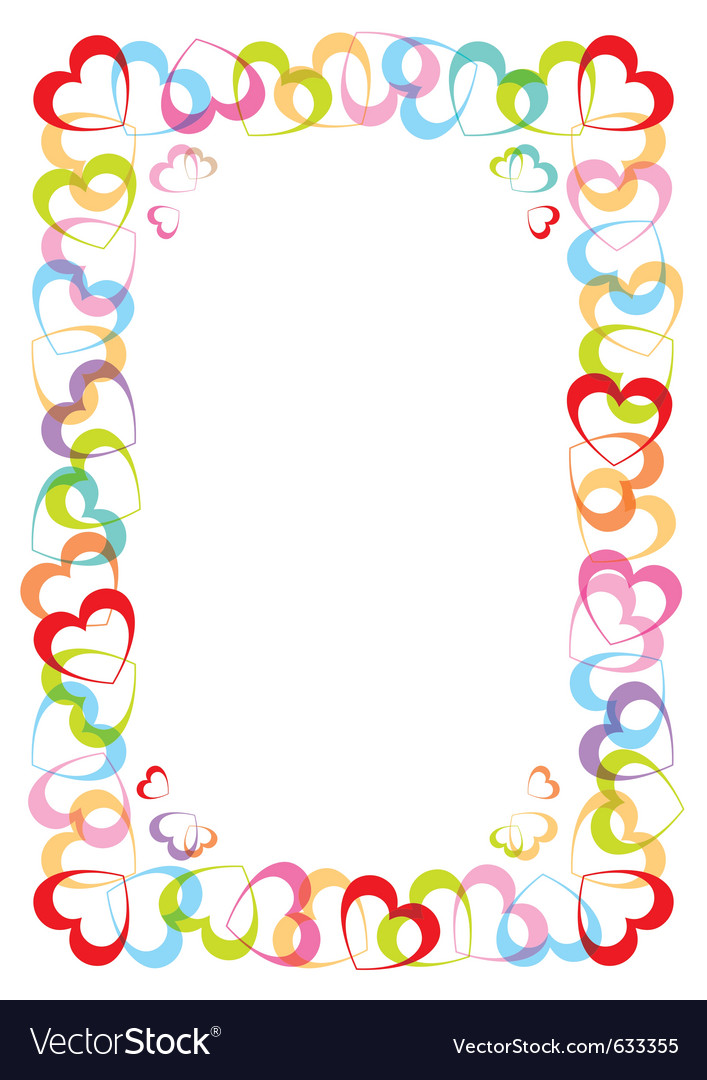 Frame with heart for valentines day vector | Price: 1 Credit (USD $1)