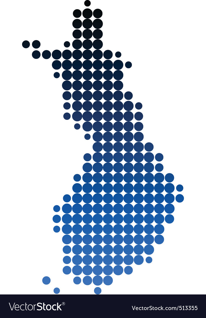 Map of finland vector | Price: 1 Credit (USD $1)
