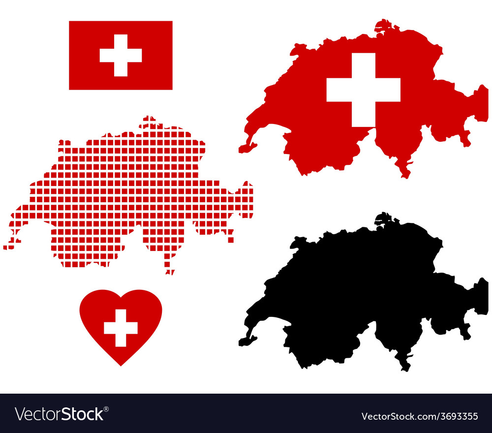 Map of switzerland vector | Price: 1 Credit (USD $1)