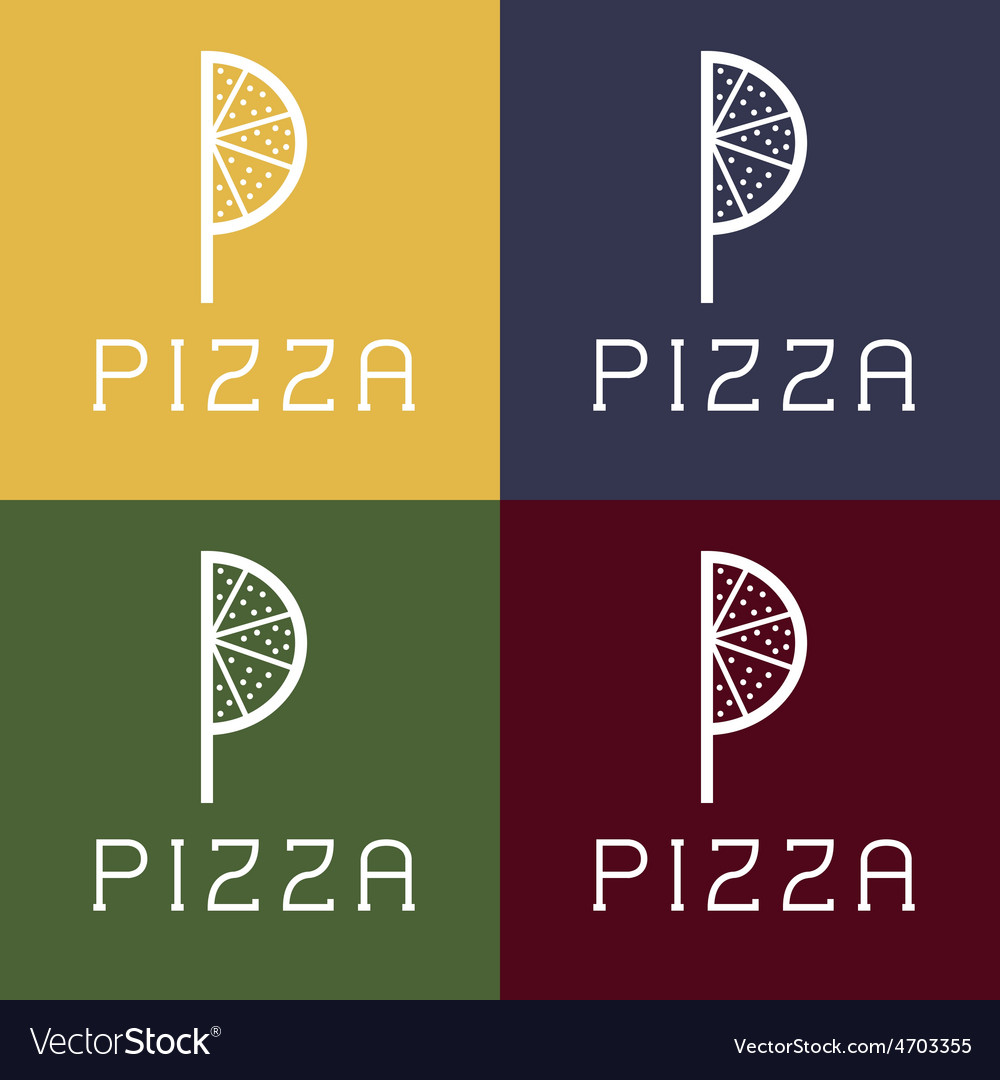 Pizza monogram vector | Price: 1 Credit (USD $1)