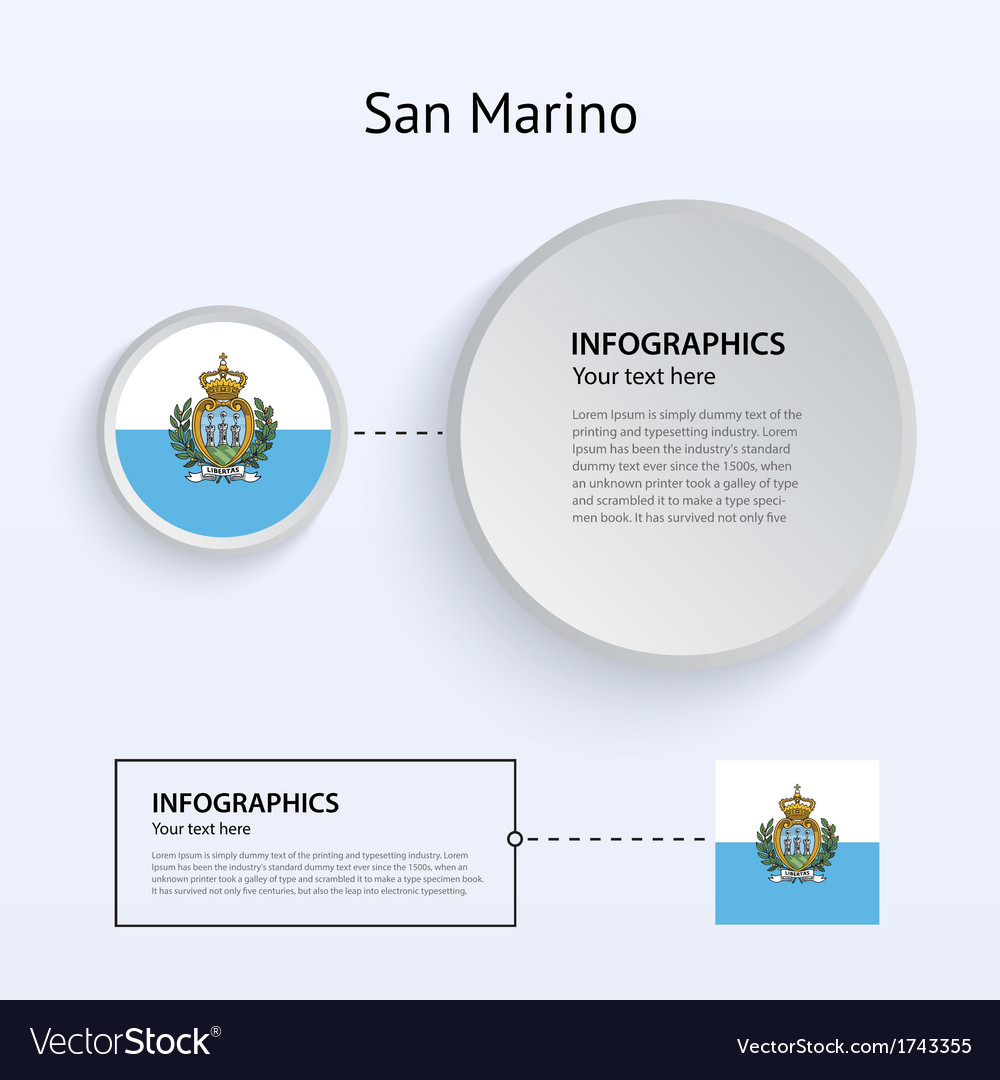 San marino country set of banners vector | Price: 1 Credit (USD $1)
