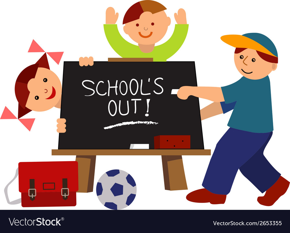 School is out vector | Price: 1 Credit (USD $1)