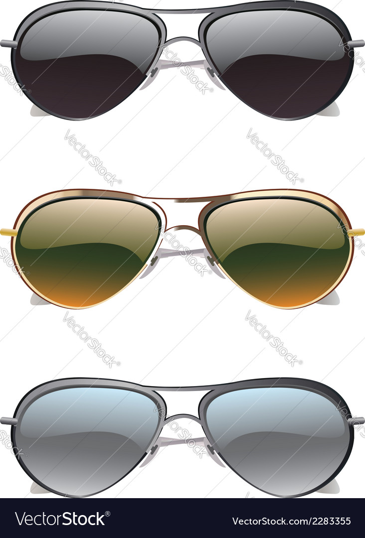 Sunglasses icons2 vector | Price: 1 Credit (USD $1)