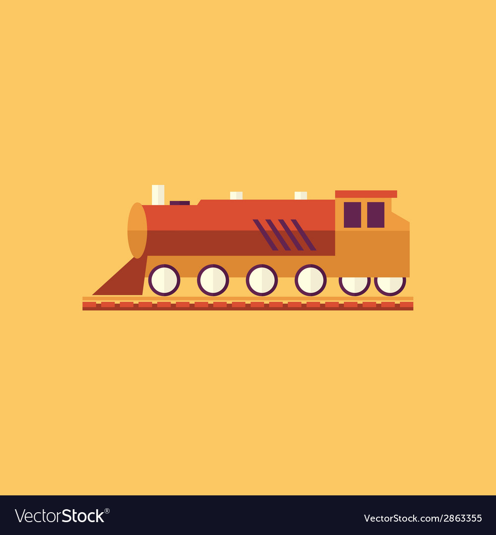 Train transportation flat icon vector | Price: 1 Credit (USD $1)