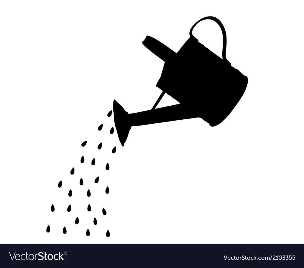 Watering pot vector | Price: 1 Credit (USD $1)