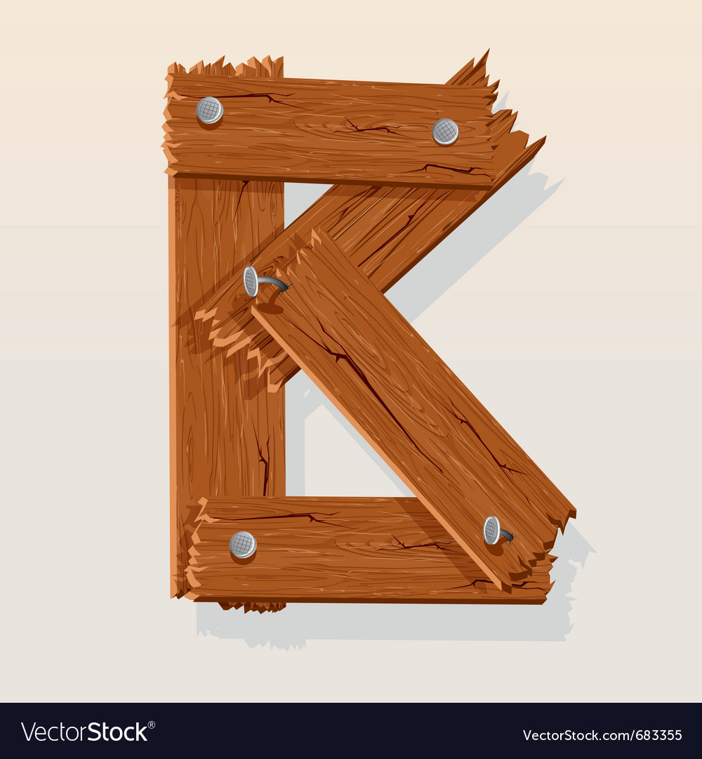 Wooden letter b vector | Price: 1 Credit (USD $1)
