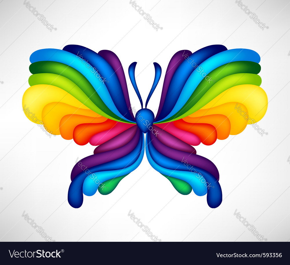 Abstract butterfly vector   Price: 1 Credit (USD $1)