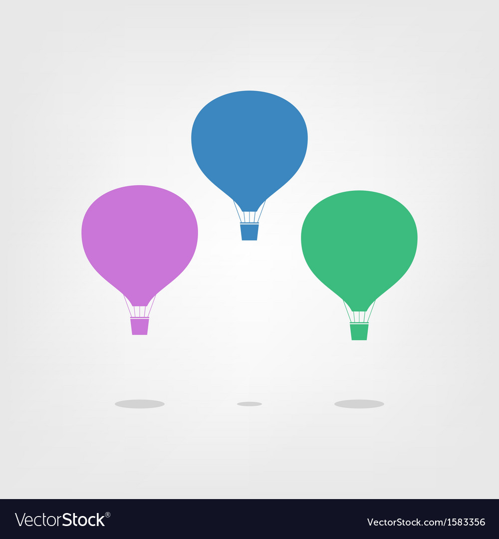 Air balloon isolated on a light background vector | Price: 1 Credit (USD $1)