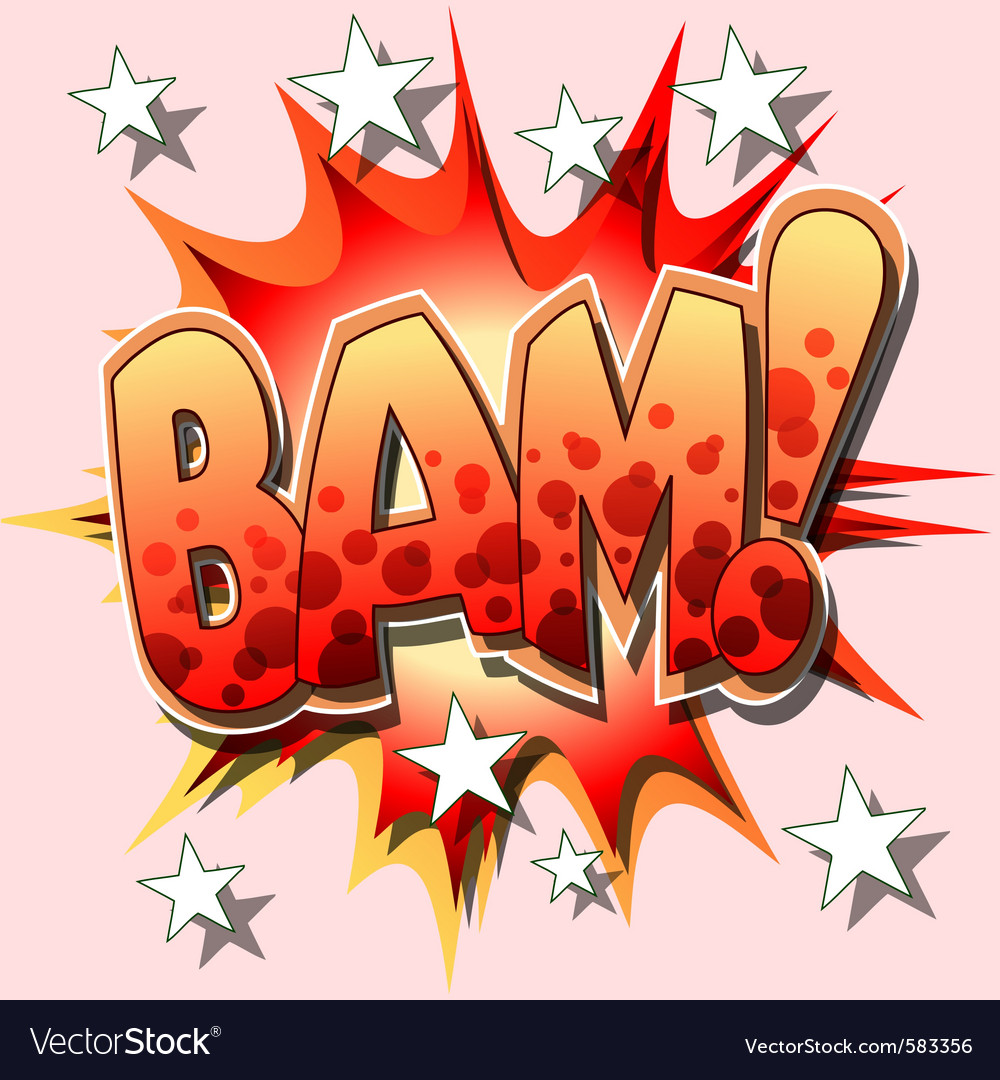 Bam cartoon vector | Price: 3 Credit (USD $3)
