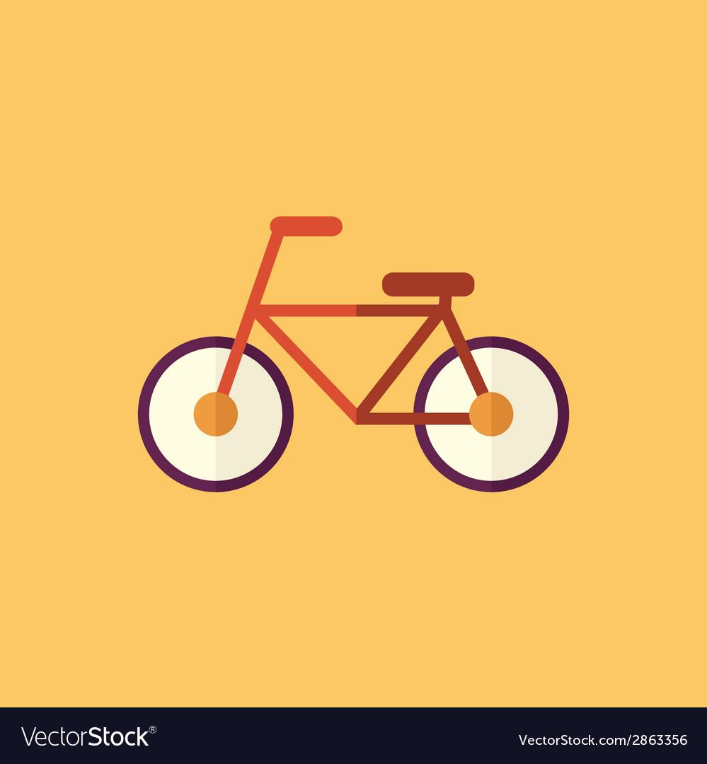 Bike transportation flat icon vector | Price: 1 Credit (USD $1)